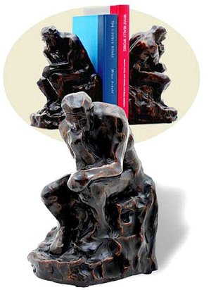 Rodin's Thinker Bookends