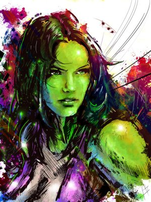 She-Hulk colors