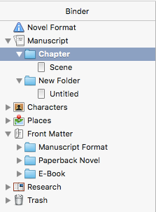 Scrivener binder
